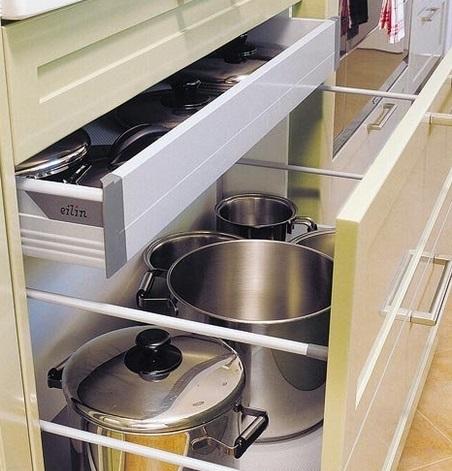 ➡️ lugar para guardar las ollas en la cocina